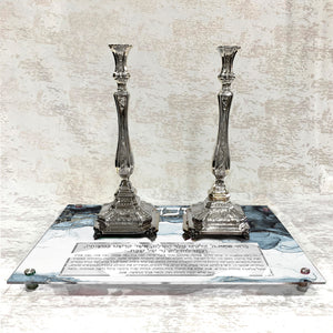 Candlestick Tray: Silver