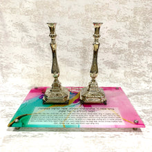 Load image into Gallery viewer, Candlestick Tray: Pink & Green