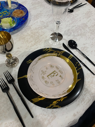 Acrylic GOLD Pesach Coasters