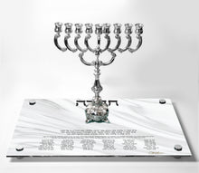 Load image into Gallery viewer, Chanukah Tray: White Marble