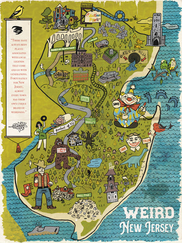 The Weird NJ State Poster NOW 20% OFF!