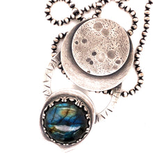 Load image into Gallery viewer, Labradorite Moon Phase Necklace