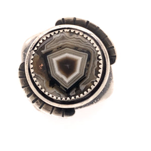 Art Deco Agate Ring