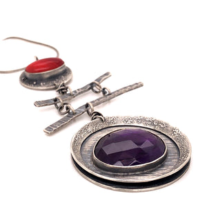 Amethyst and Rosarita Necklace