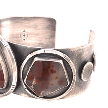 Load image into Gallery viewer, Carnelian and Moss Agate Cuff