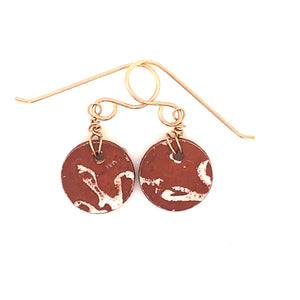 James Garnett Porcelain Small Terra Cotta Round Earrings