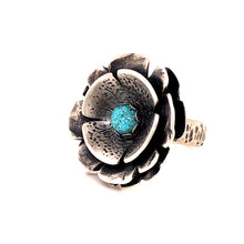 Load image into Gallery viewer, Turquoise Flower Power Ring