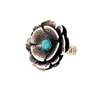 Turquoise Flower Power Ring