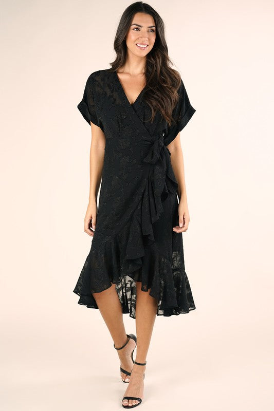 Paloma Ruffled Midi Dress