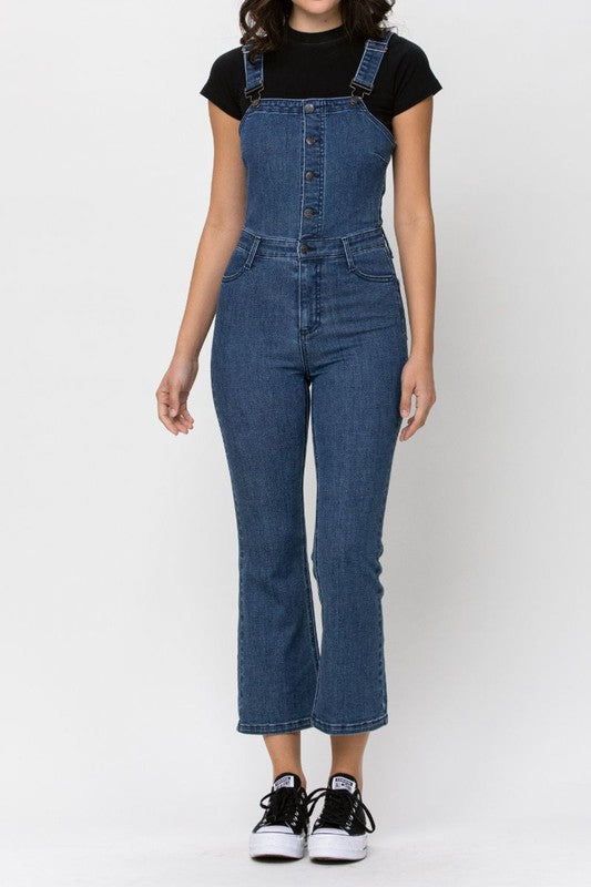 High Rise Flare Overalls