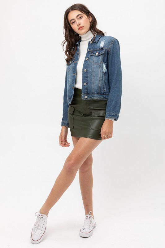Melody Crop Denim Jacket