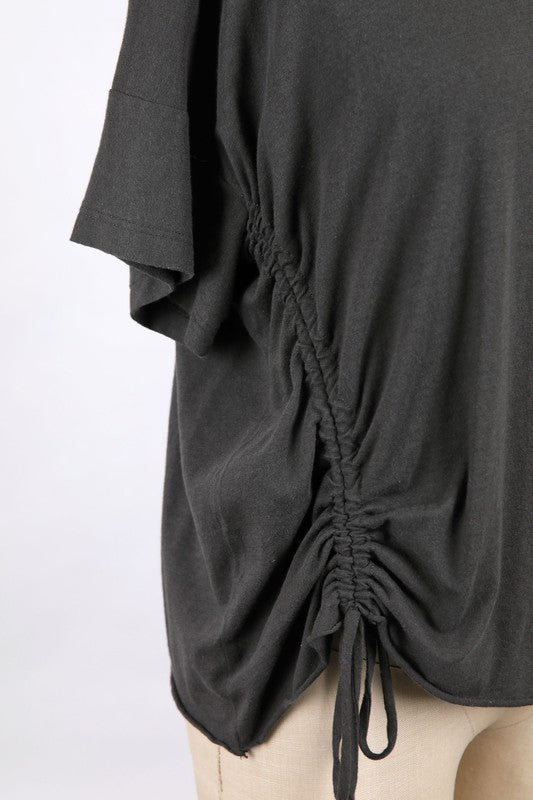 Serena Tee with Ruched Detail