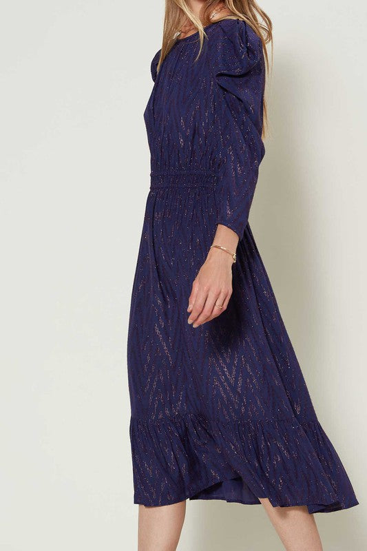 Madeline Textured Midi Dress