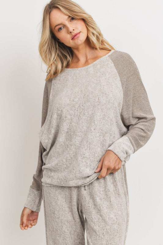 Elle Contrast Knit Top