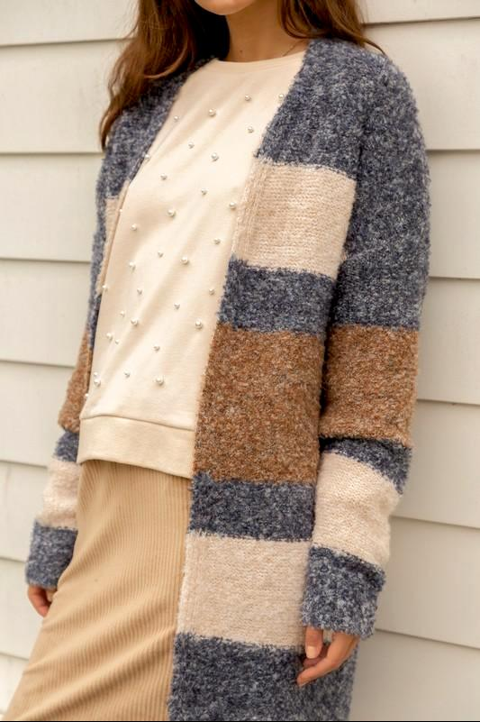 Sunshine Color Block Cardigan