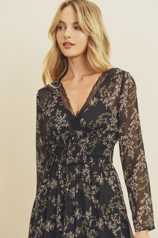 Ophelia Lace Trim Dress