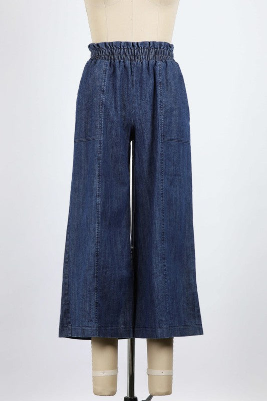 Riley Pull-On Wide Leg Pants