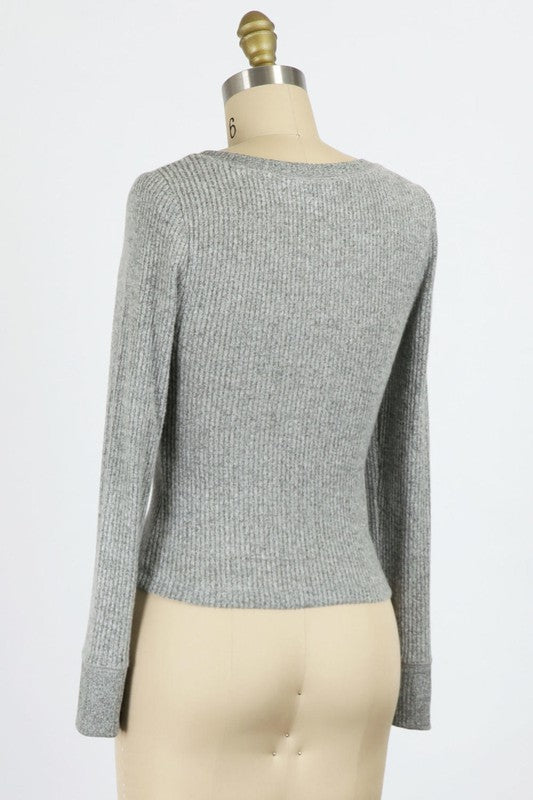 Brushed Rib Knit Top