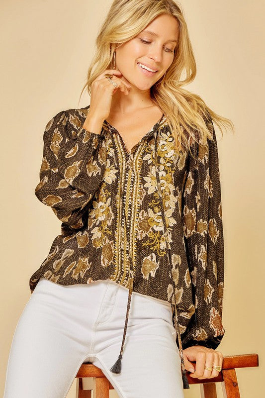 Camille Embroidered Top