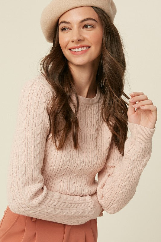 Jasmine Cable Knit Sweater