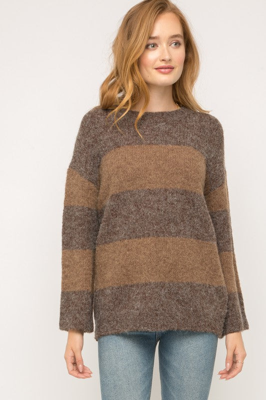 Stormee Color Block Sweater