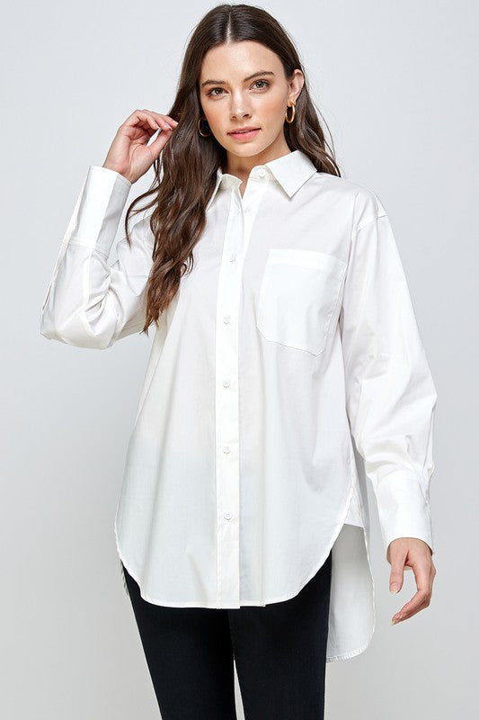 Oversized Button Down Top