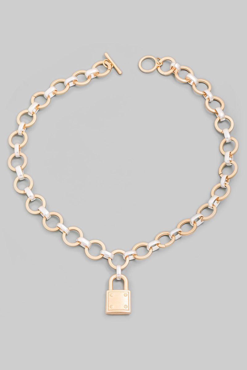Chain Link Padlock Necklace