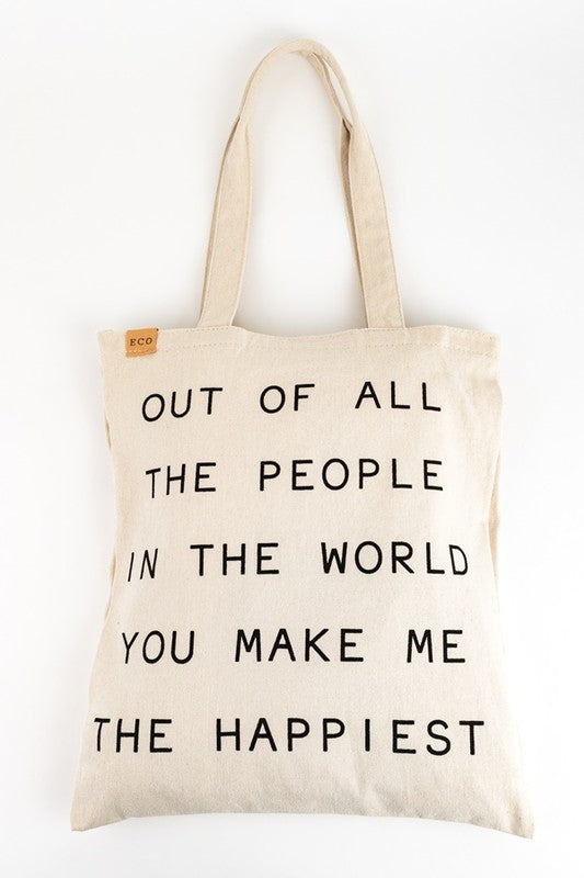 Happiest Canvas Bag