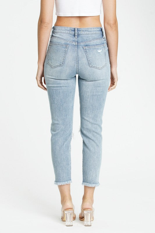 Light Washed Mom Jeans