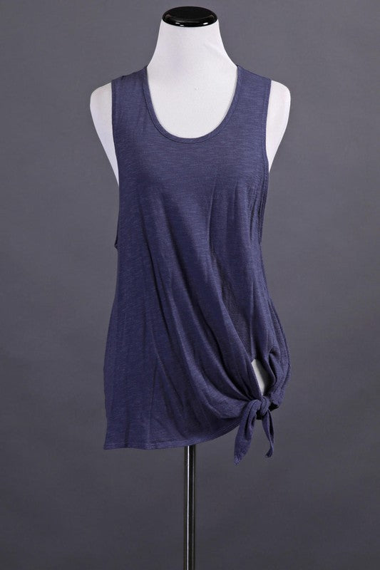 Washed Navy Muscle Tank Back in stock