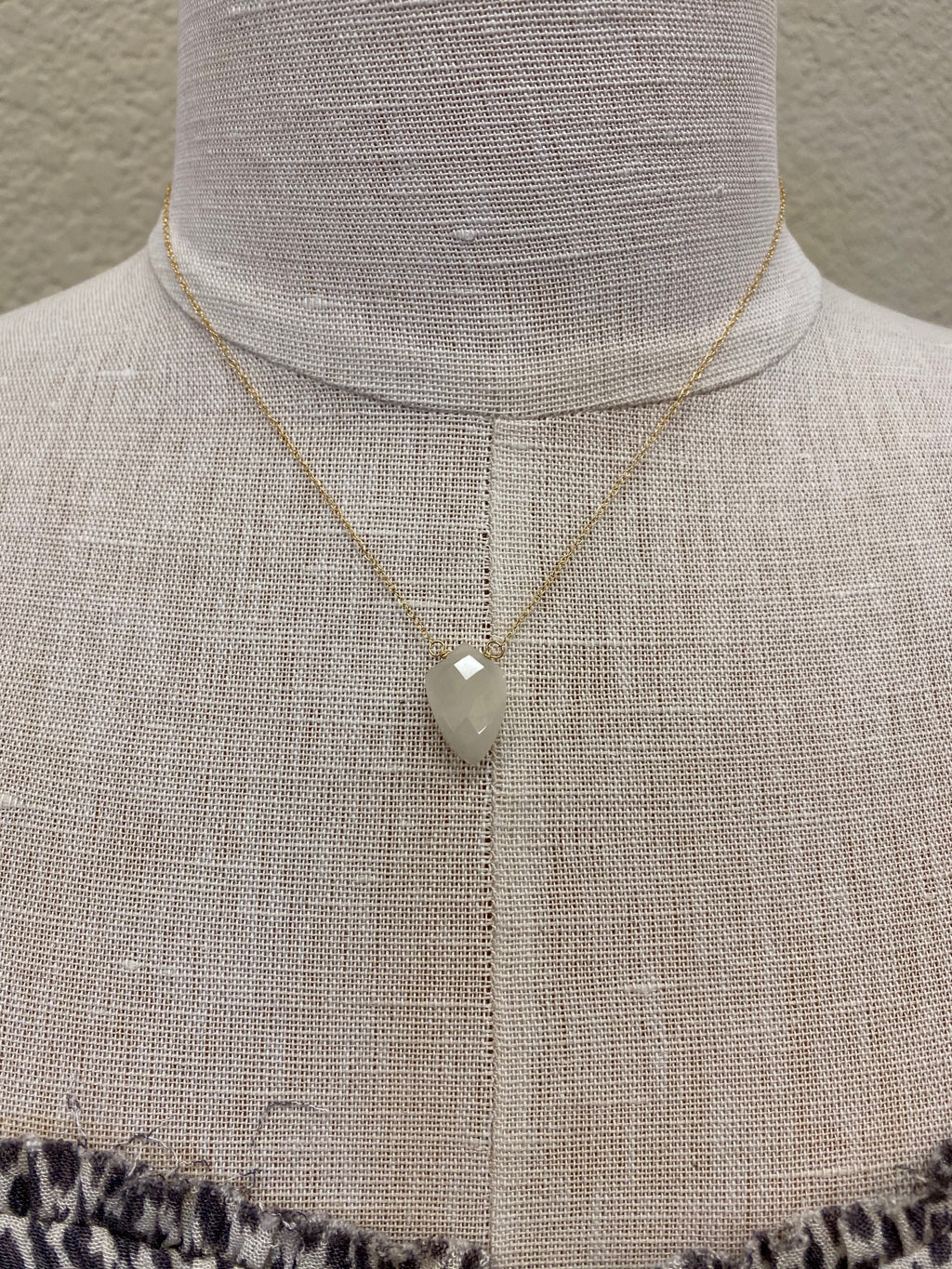 Moonstone Drop Necklace