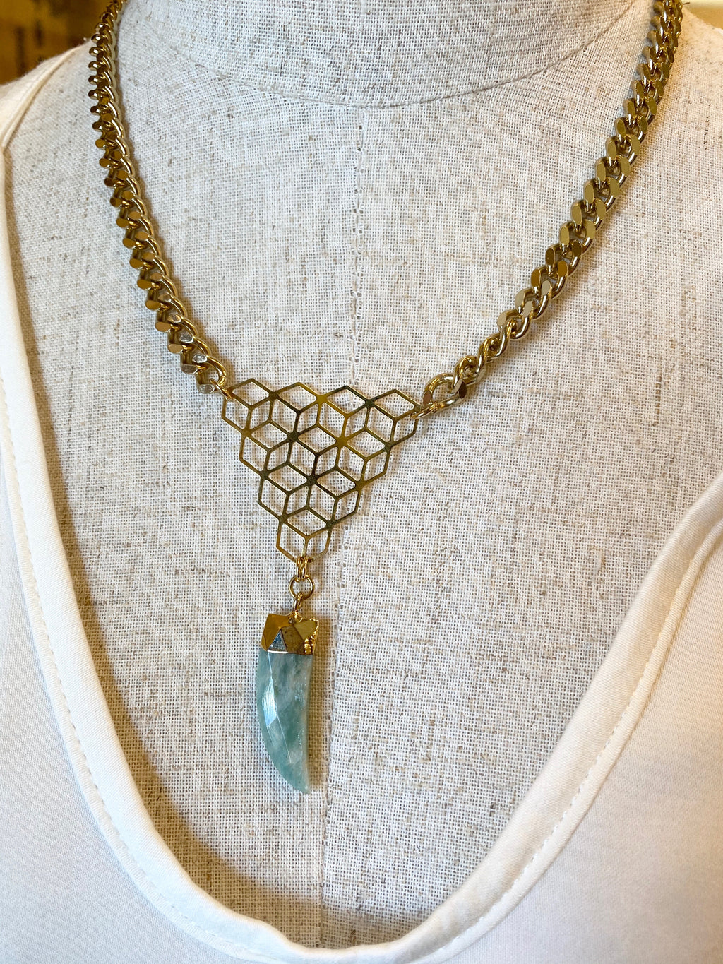 Larimar Crystal Necklace
