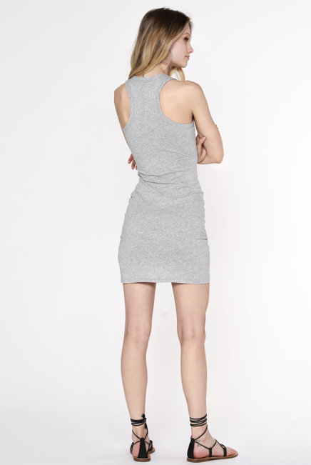 Surplice Tank Dress WAS 65 NOW 60 in Grey or Brown
