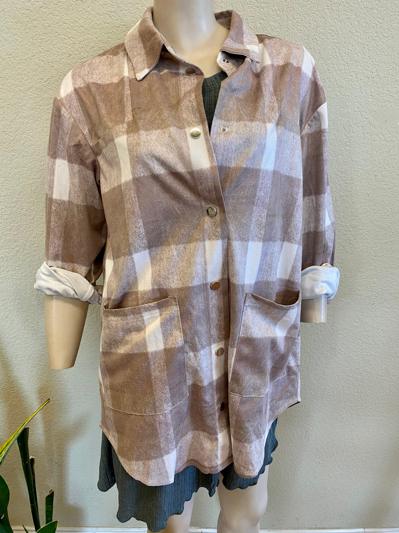 Clover Plaid Button Up