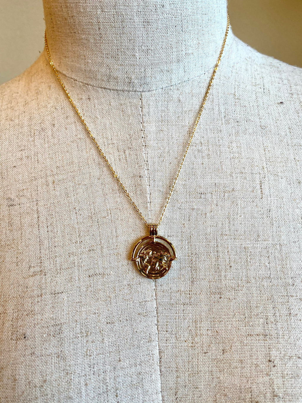 Gold Globe Necklace