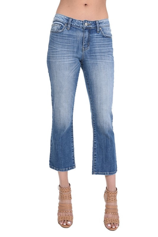 Cropped super soft denim