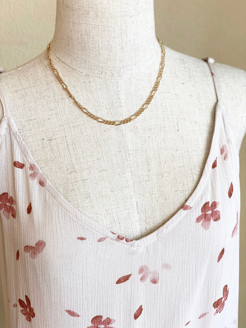 Simple Gold Chain Layering Necklace