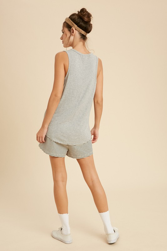 Scoop Neck Knit Tank