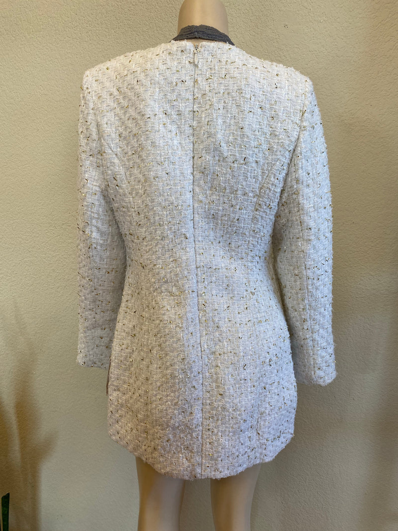 Gold Speckled Blazer Dress
