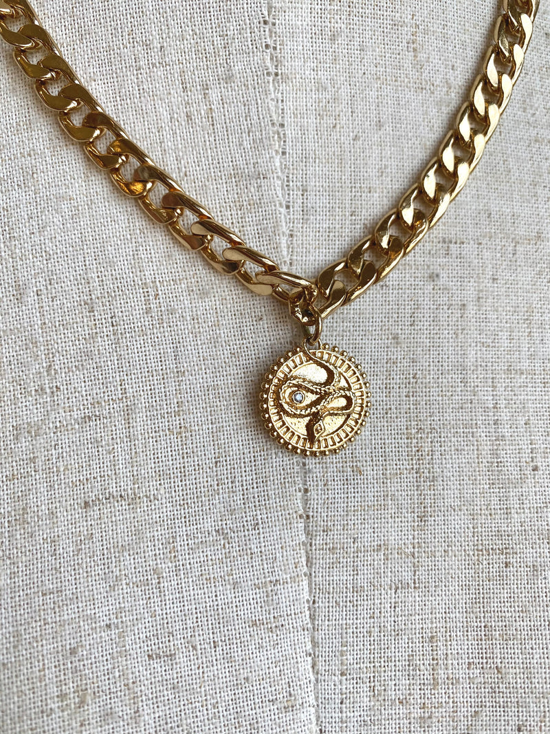 Chunky Gold Coin Necklace