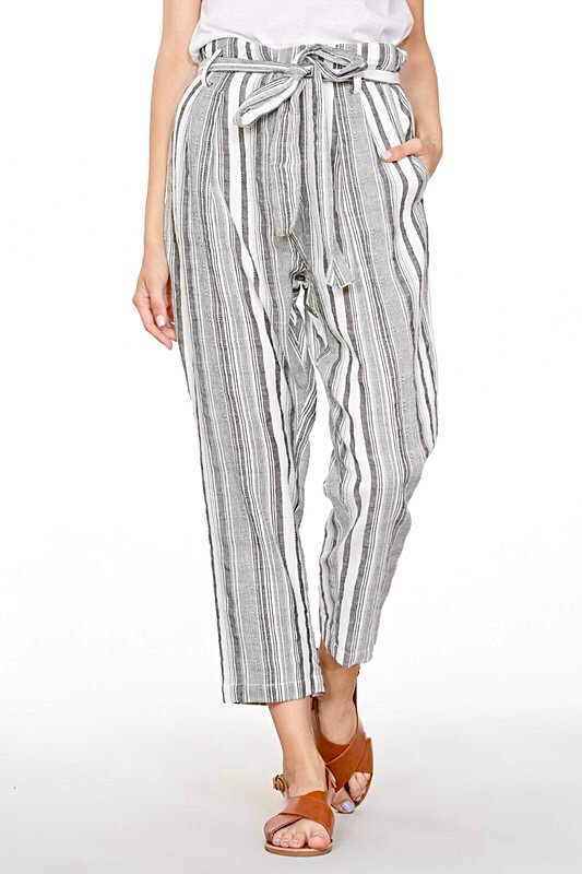 Striped Loose Fit Pants