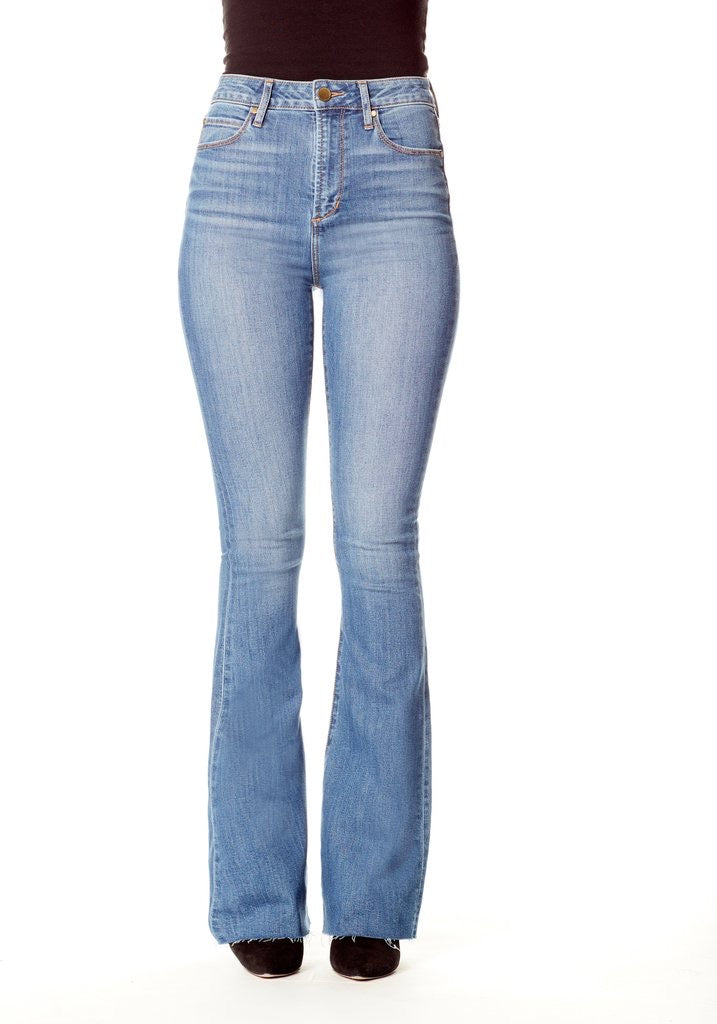 High Rise denim flare
