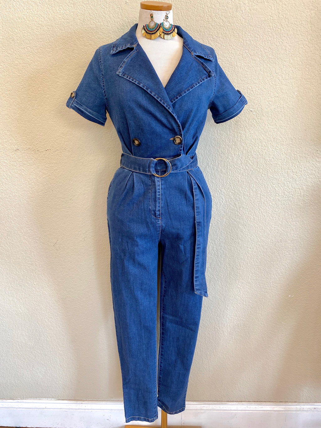 Denim Retro Boiler Suit