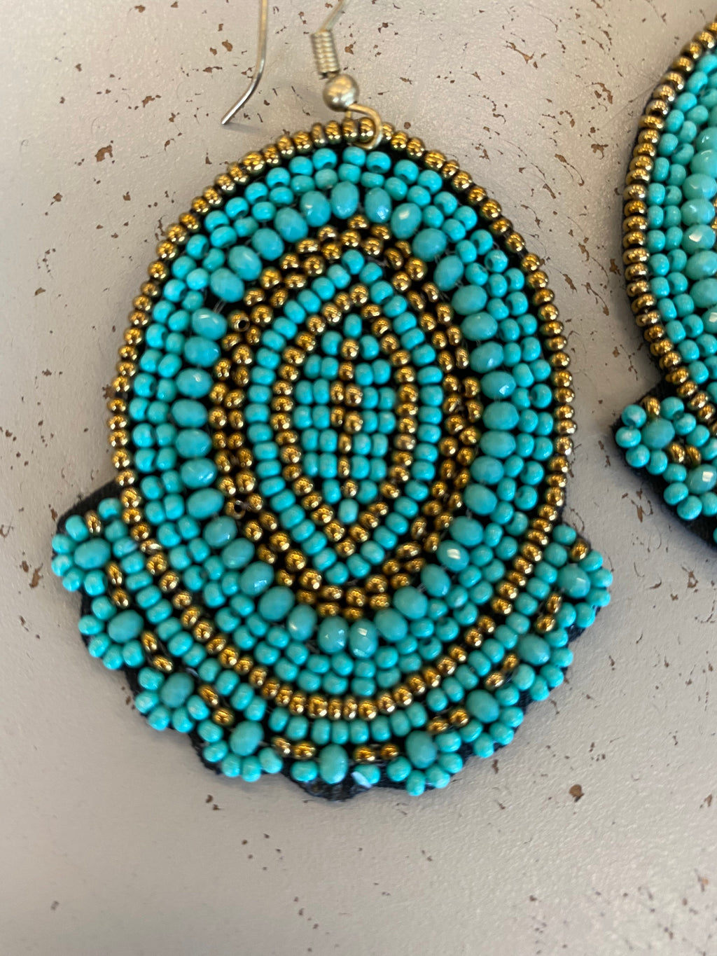 Turq boho earrings
