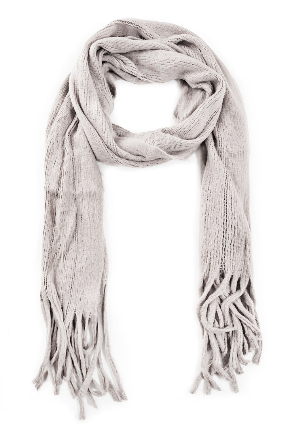 Knitted Fringe Scarf