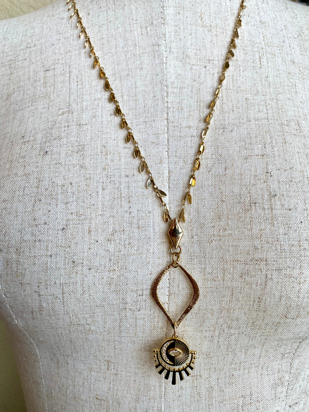Gold Sun Eye Necklace