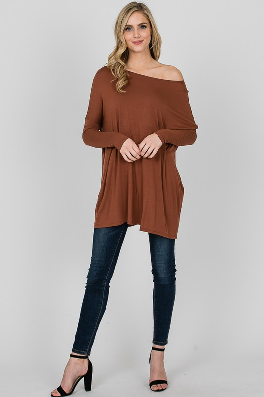 Jessie Off-Shoulder Tunic Top