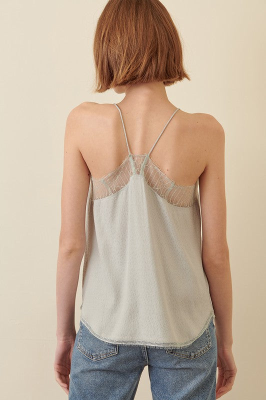 Sage Lace Cami Top