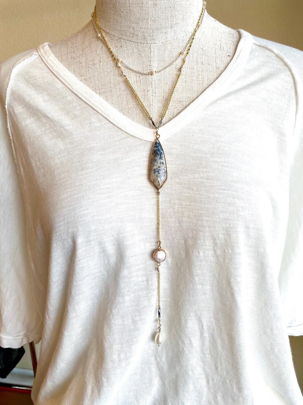 Jasper Layered Chain Necklace