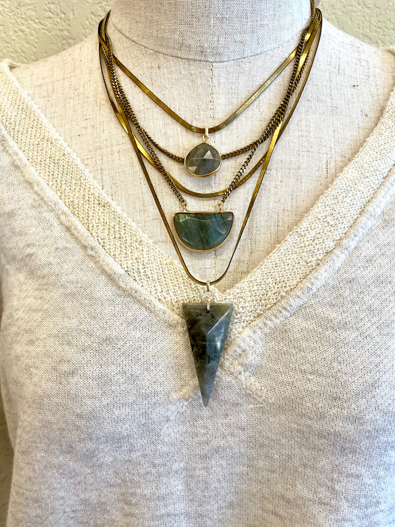 Layered Labradorite Necklace